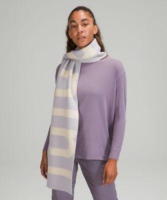 Wool-Blend Knit Logo Scarf