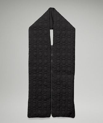 Reversible Quilted Zip Scarf