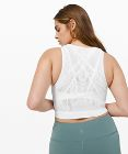 Reveal Crop Top *Lattice Paisley