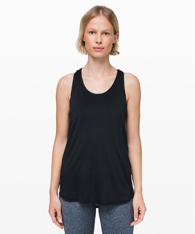 Essential Tank Pleated *Jersey