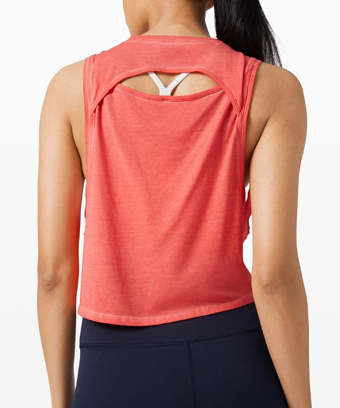 Cut Back Crop Tank *Wash