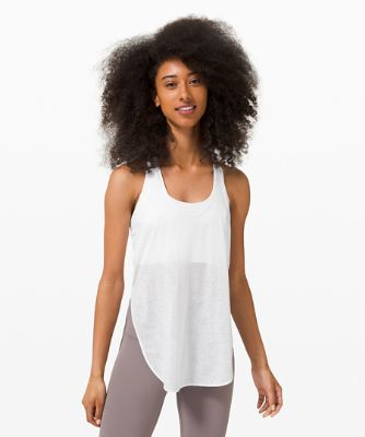 Twist Around Tank *Cloud Mesh