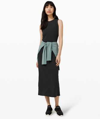 All Aligned Midi Dress
