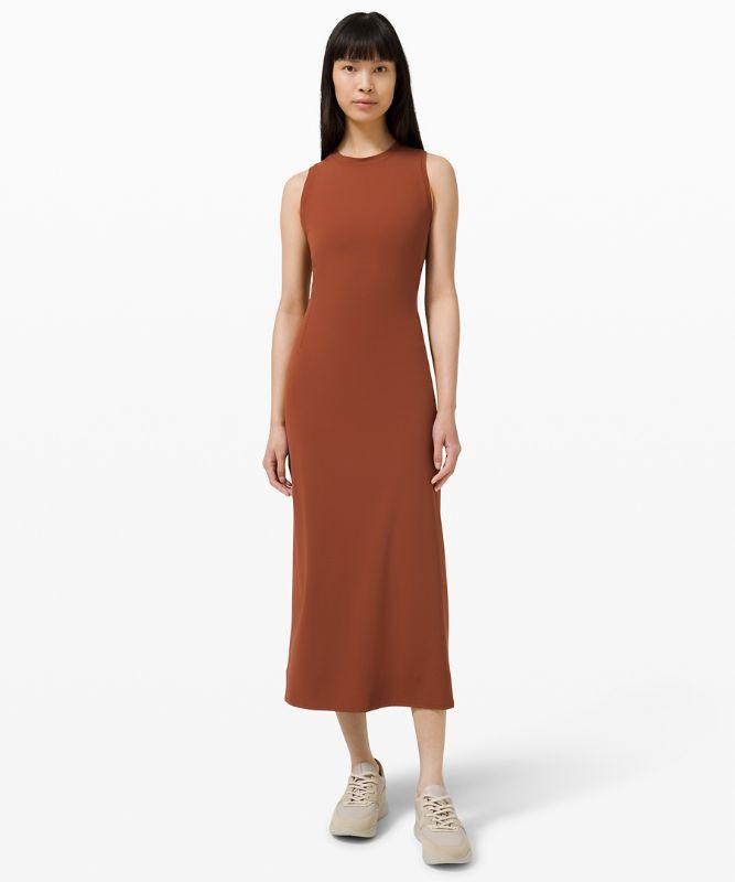 All Aligned Midi Dress