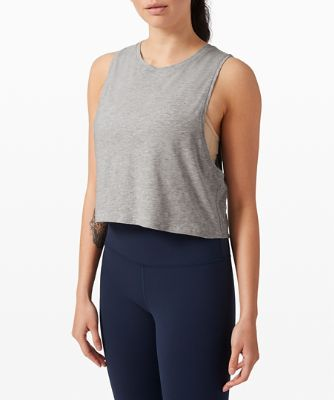 Cut Back Crop Tank
