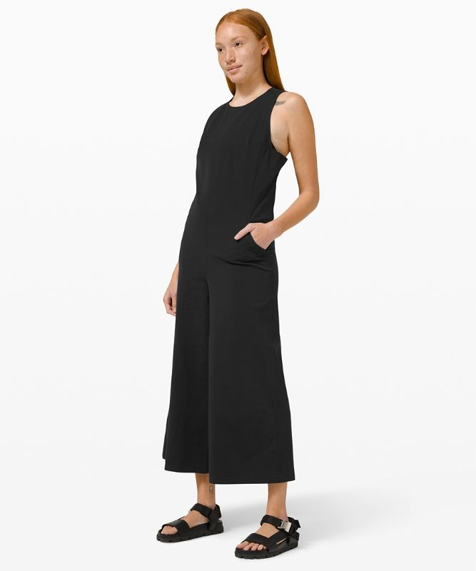 Pocketed Wide Leg Jumpsuit