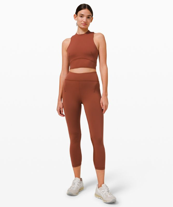 Everlux� and Mesh Cropped Tank