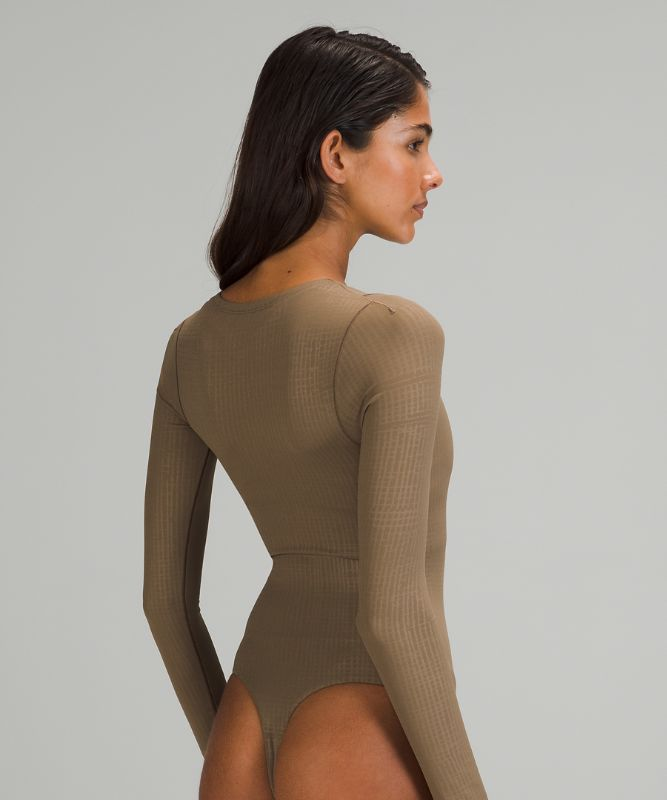 LAB Asymmetric Long Sleeve Bodysuit