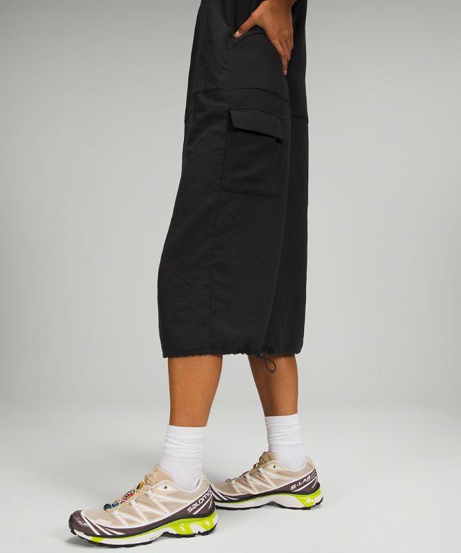 Pocketed Drop Waist Midi Dress