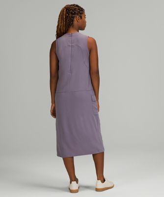 Pocketed Drop-Waist Midi Dress