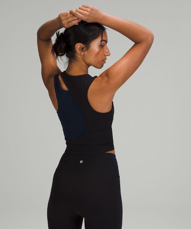 Nulu asymmetrisches Yoga-Tanktop