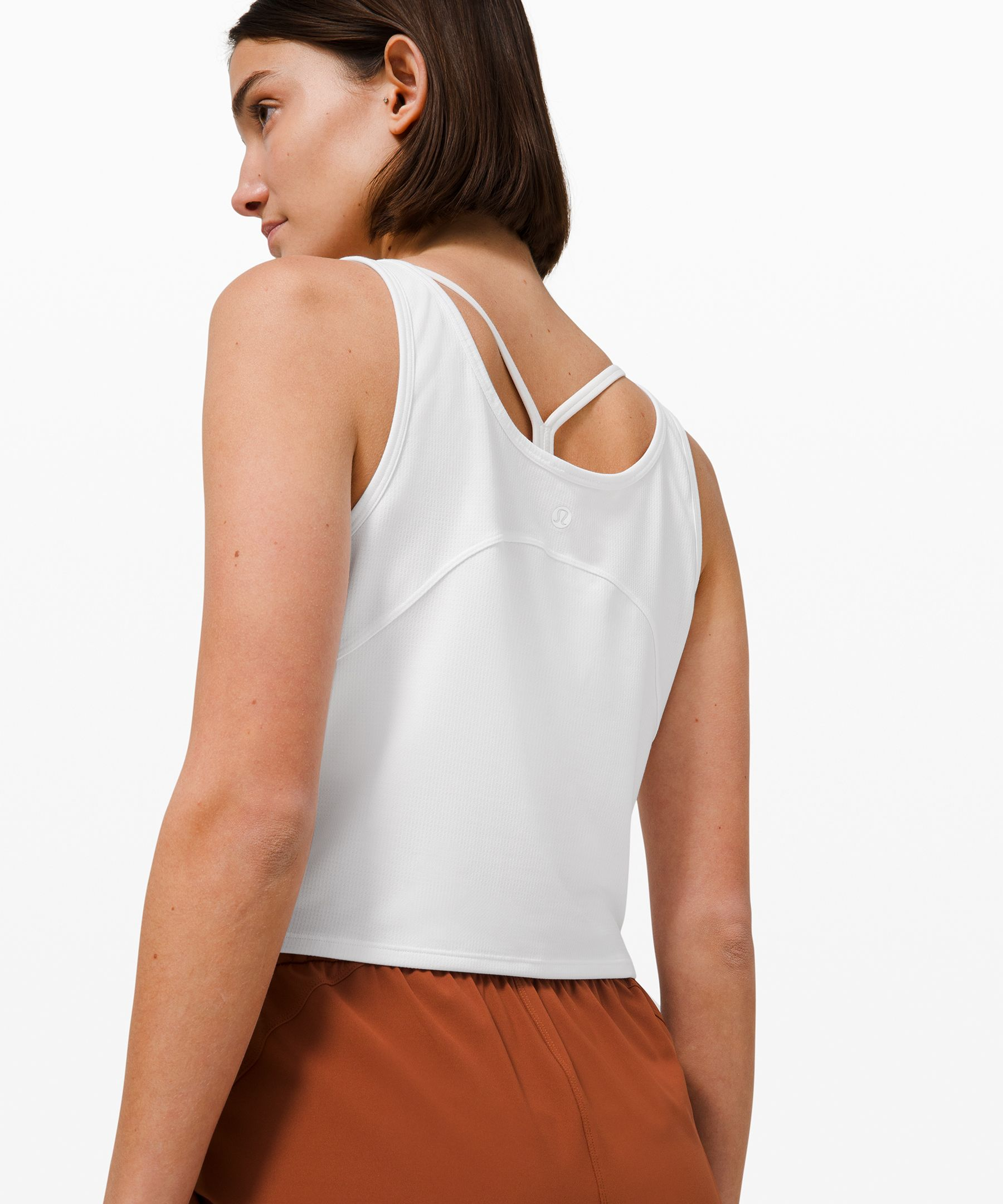 Cropped Henley Tank