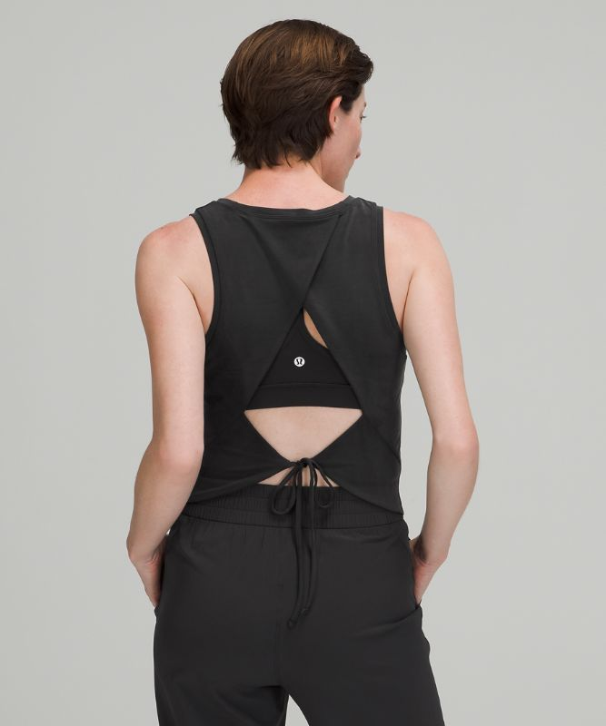 Open Tie-Back Tank Top