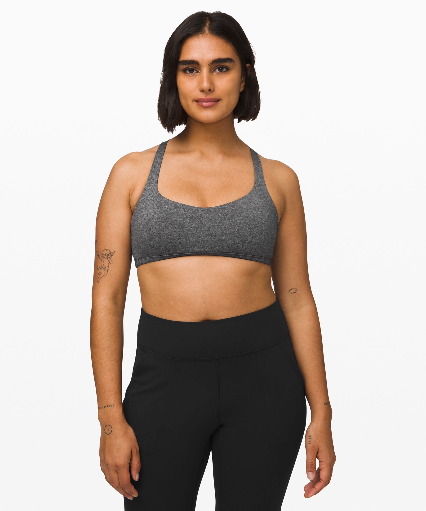 Lululemon Free To Be Bra Wild Light Support A B Cup In Black Modesens