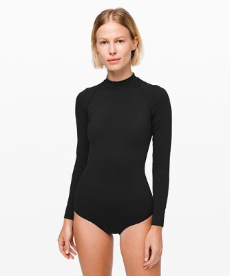 Will The Wave Long Sleeve Cheeky One Piece