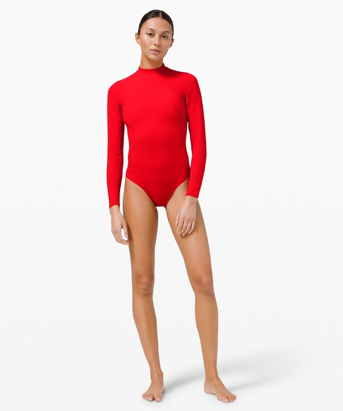 Wade the Waters Long Sleeve One-Piece *Online Only
