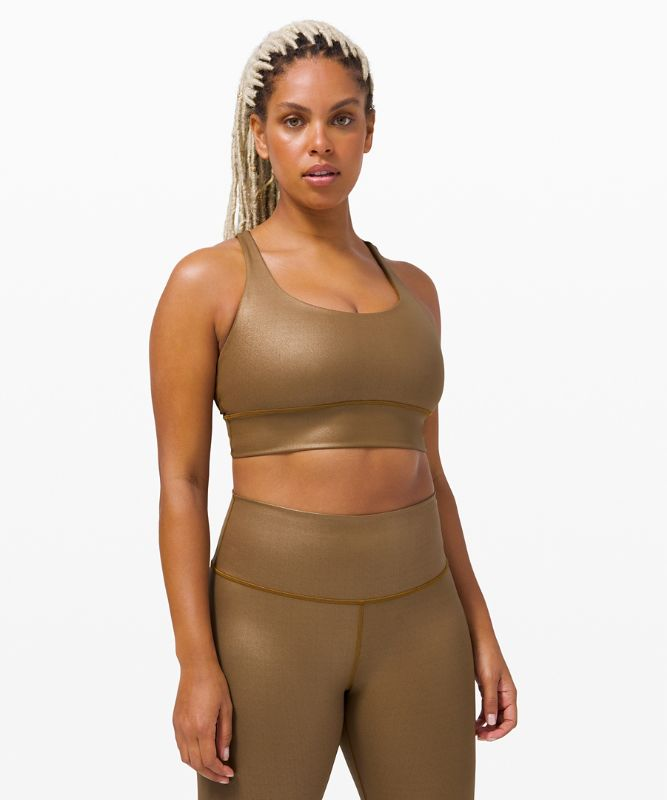 Energy Bra Long Line Shine *Medium Support, B–D Cups Foil Special Edition
