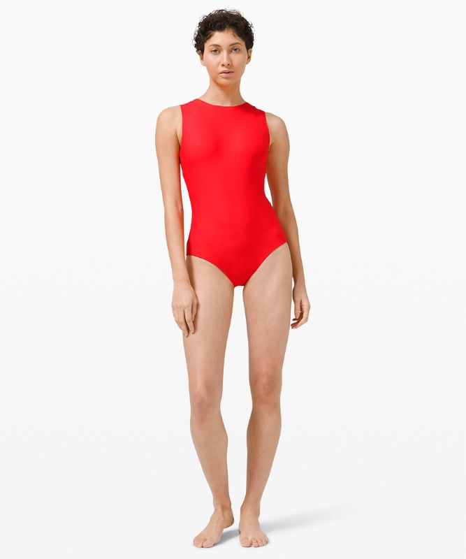 Waterside High Neck Swim One-Piece *Medium Coverage