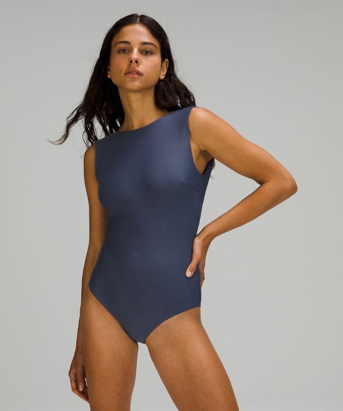 Waterside High Neck Swim One-Piece *Medium Coverage