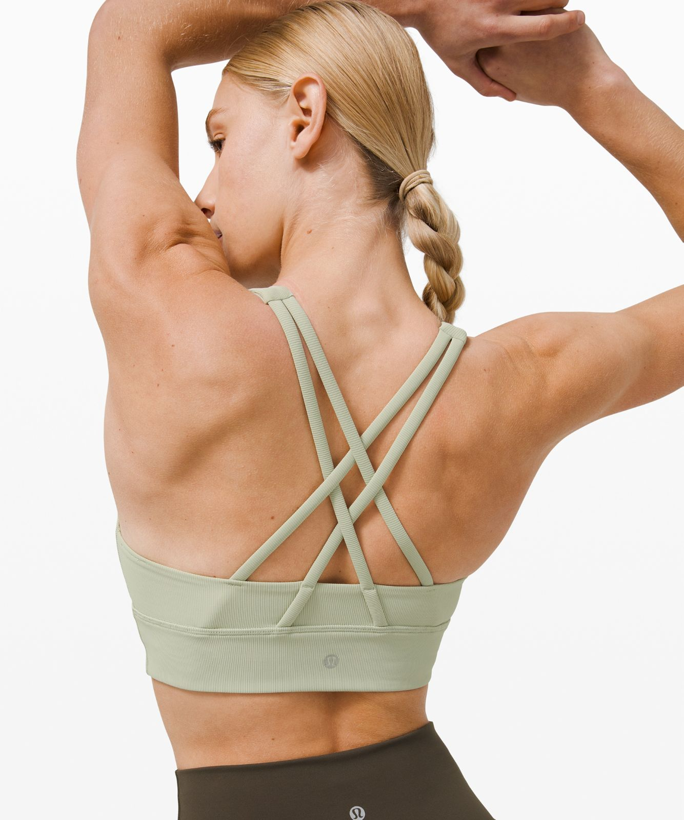 Energy Bra High Neck Long Line Ribbed *Medium Support, B/C Cup