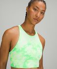 Energy Bra High Neck Long Line Shibori *Medium Support, B–D Cup
