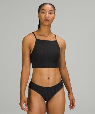 Ribbed High-Neck Long-Line Top*B/C Cups