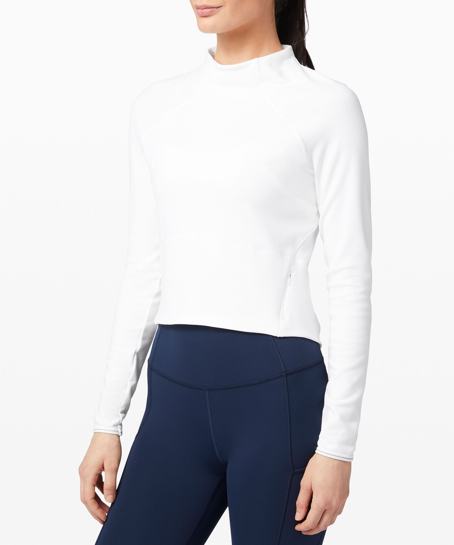 Hill And Valley Mock Neck *Crop Top