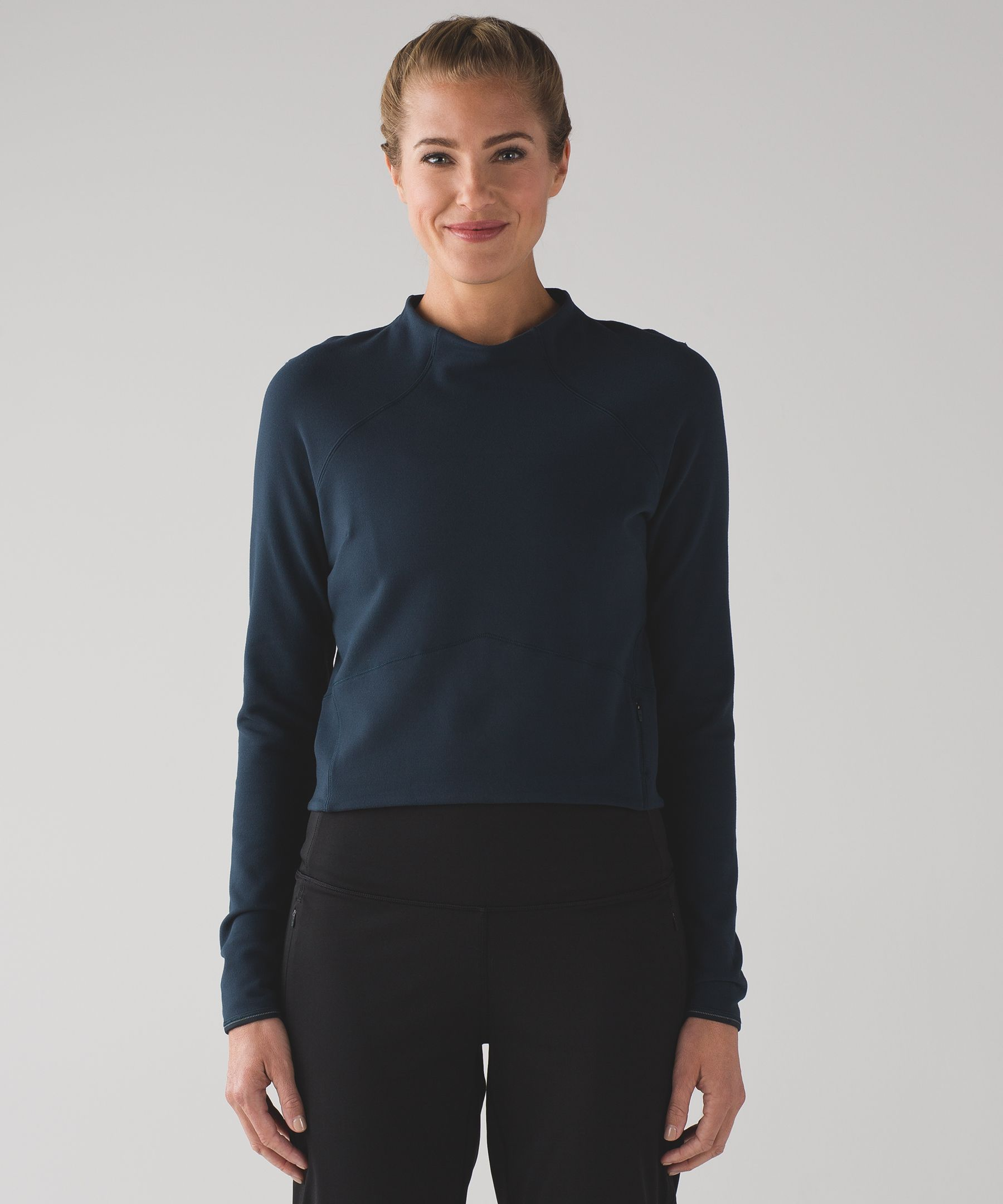 Hill And Valley Mock Neck Crop Top