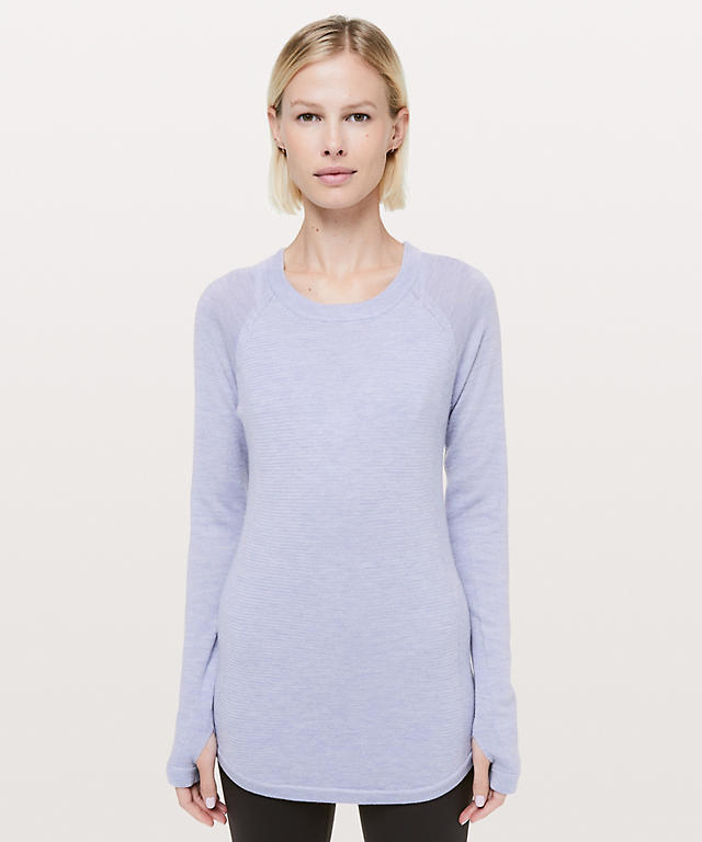 86b3df576a75e heathered lilac Sit In Lotus Sweater ...
