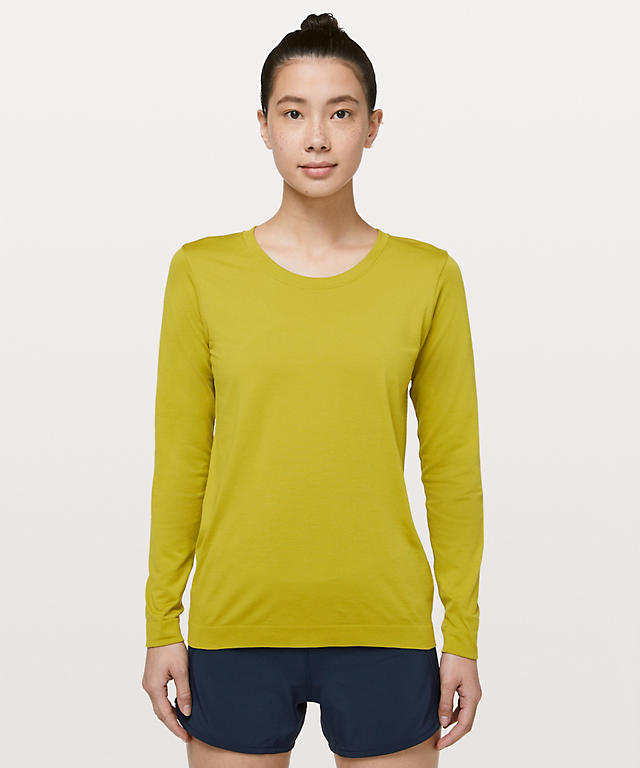 4076207f6a052 Golden Lime Golden Lime Swiftly Tech Long Sleeve (Breeze) Relaxed Fit ...