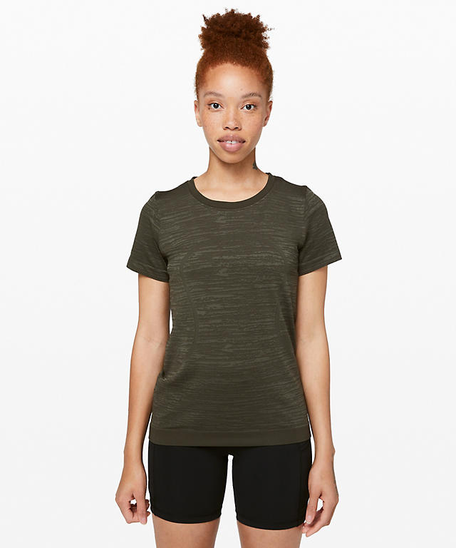 78a21a1d256 Dark Olive/Fatigue Green Swiftly Tech Short Sleeve (Breeze) Relaxed Fit ...