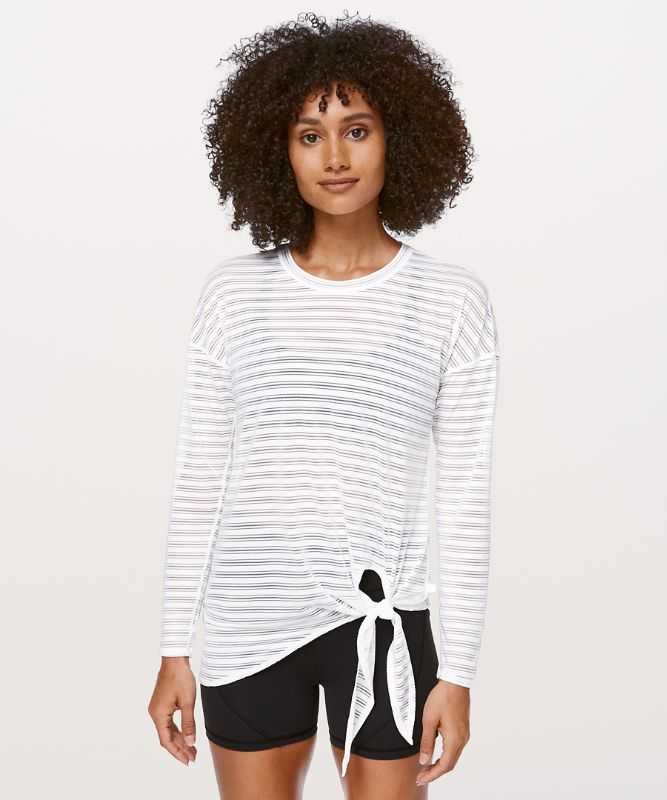 Tie Your Practice Long Sleeve *Stripe