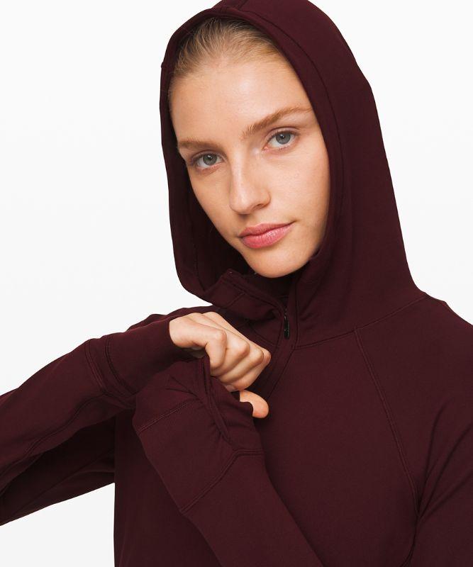Warm Stabilizer Hoodie mit halbem Reißverschluss