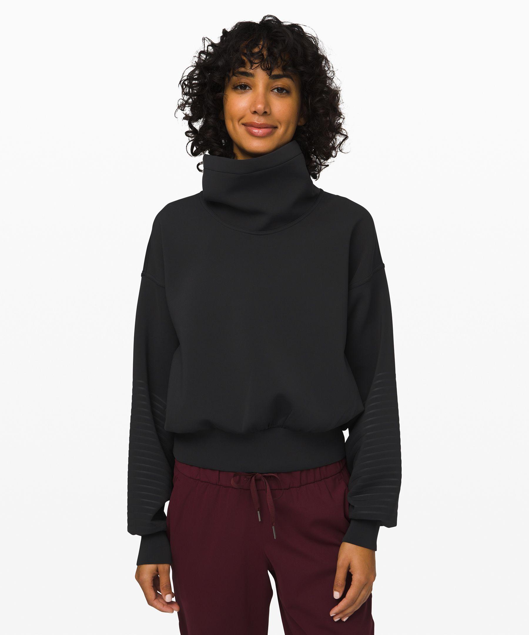 Lululemon Full Flourish Pullover In Black
