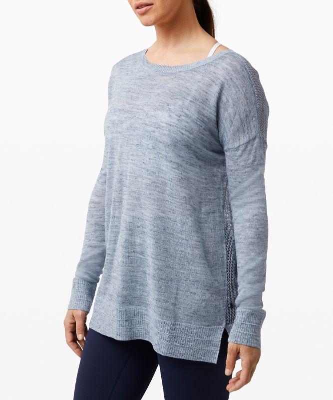 Well Being Crew Sweater *Linen