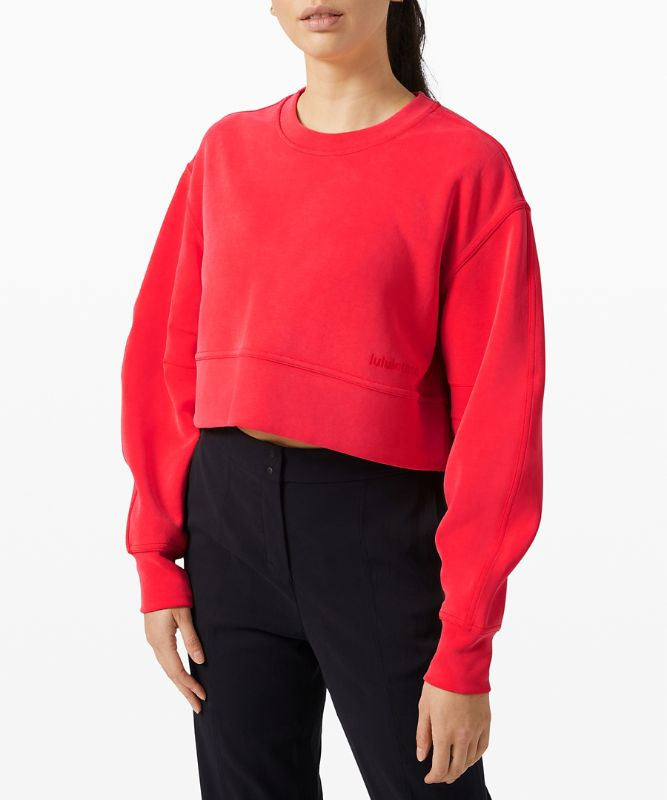 Soft Ambitions Crop Rundhals-Pullover