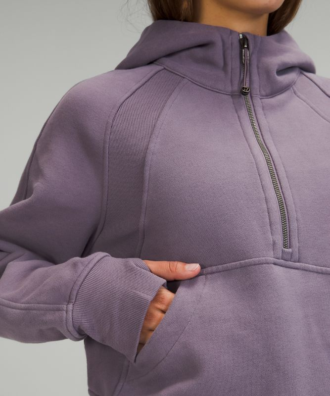 Scuba Oversized Hoodie mit 1/2 Reißverschluss