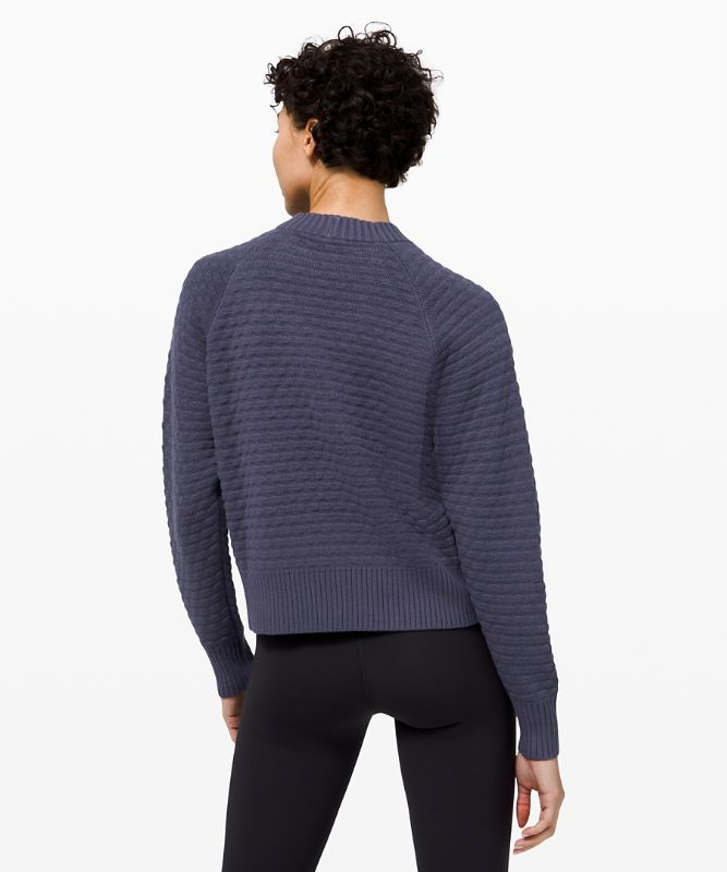 Texture Play Rundhals-Pullover