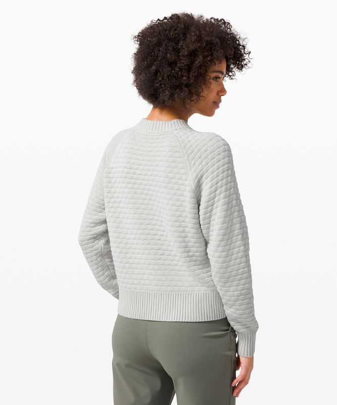 Pull col rond Texture Play