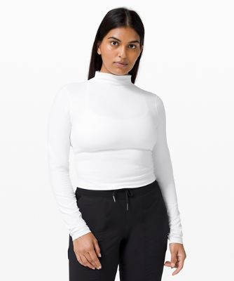 All Aligned Mock Neck LS