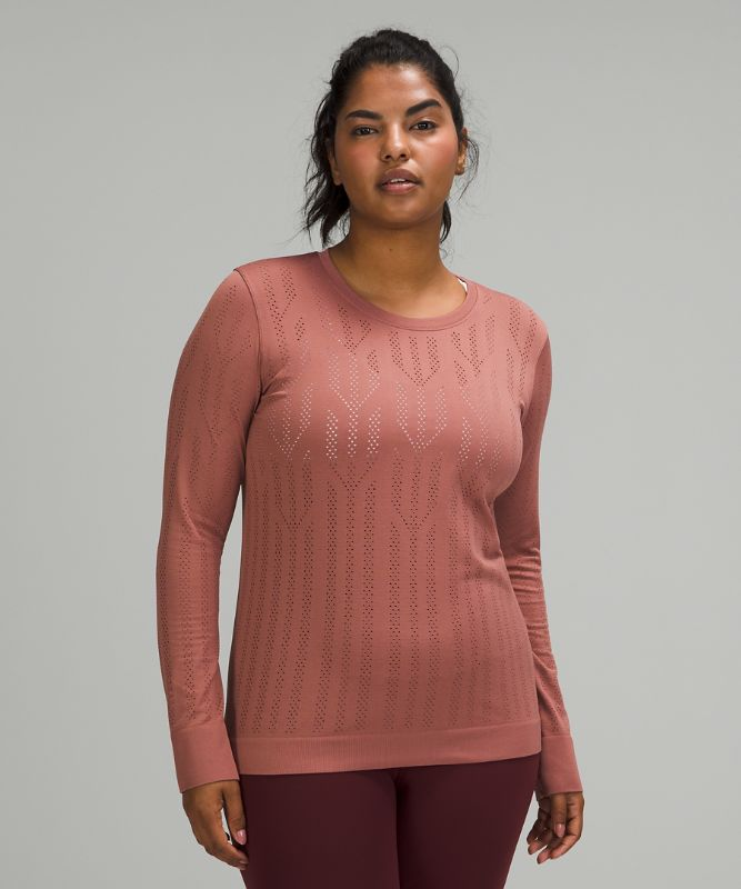 Swiftly Breathe Long Sleeve Shirt *Fetching Lines