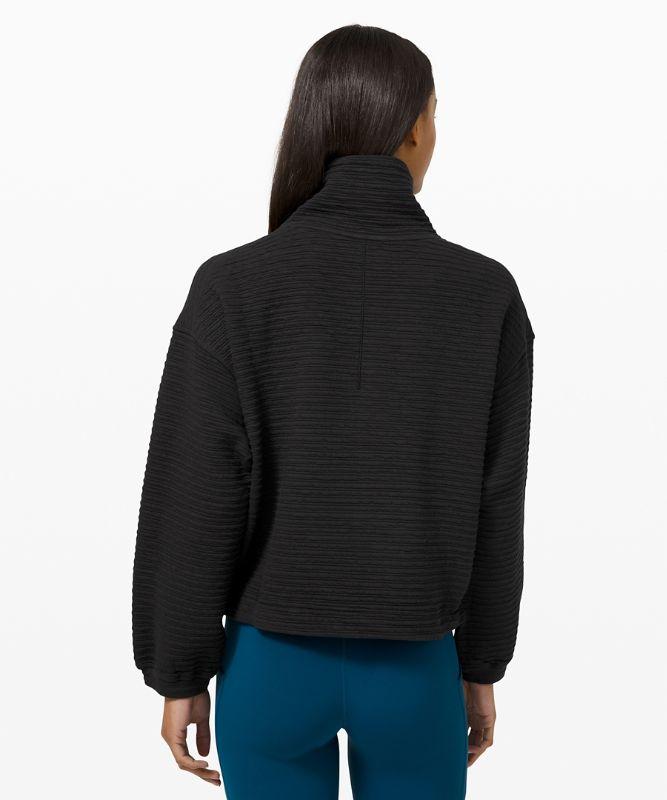 Textured 1/2 Zip Pullover