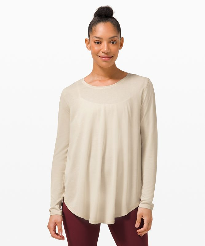 Draped Bum Covering Long Sleeve