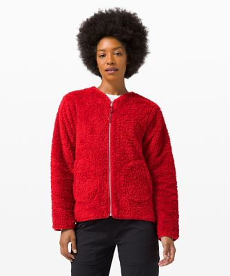 Manteau zippé Oh So Sherpa