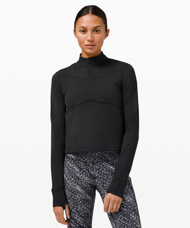 Rulu� Running Cropped 1/2 Zip