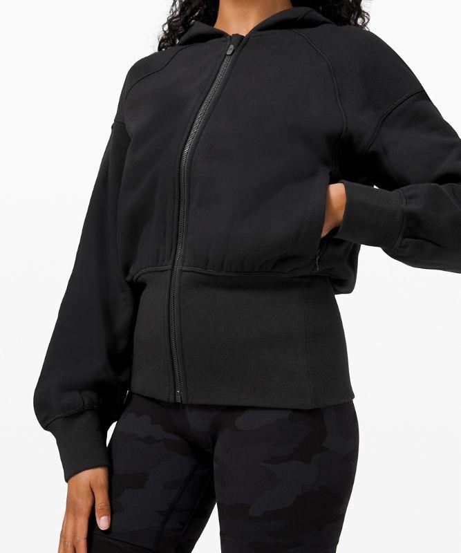 Sweat à capuche zippé à taille cintrée