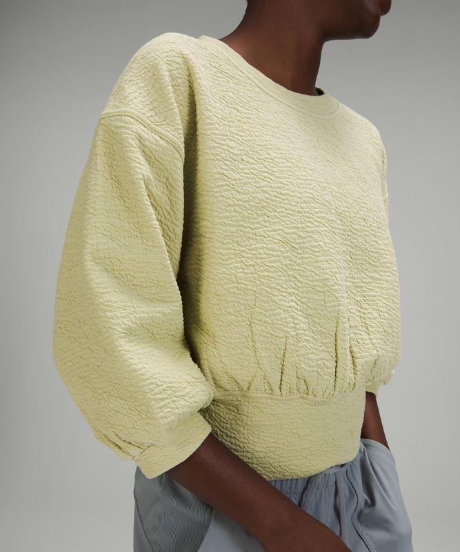 Textured Crewneck Pullover