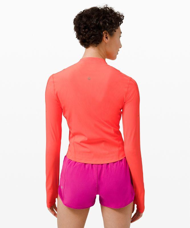 Gloss Trim Run 1/2 Zip Long Sleeve