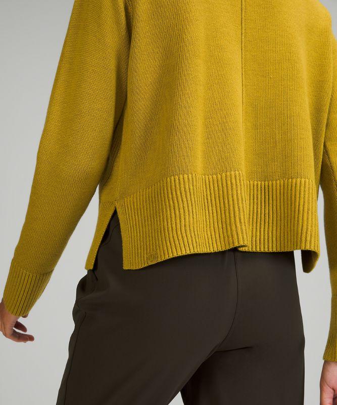 Cashlu™ Boxy Crewneck Sweater