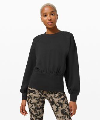 Hugged-Waist Cotton Pullover